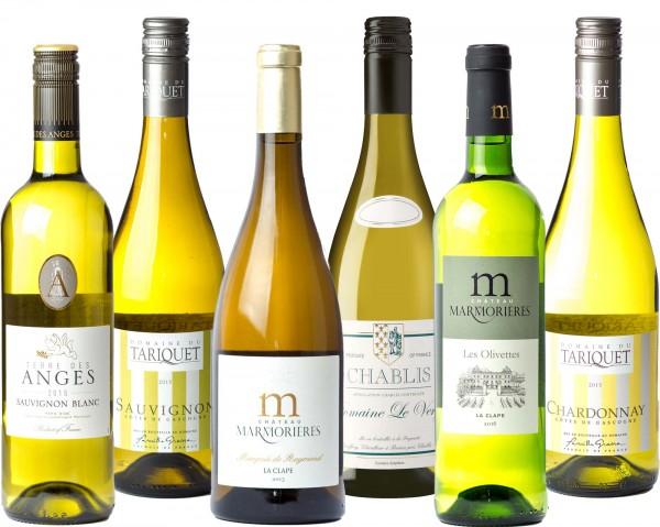 6er Weißweinpaket Frankreich
